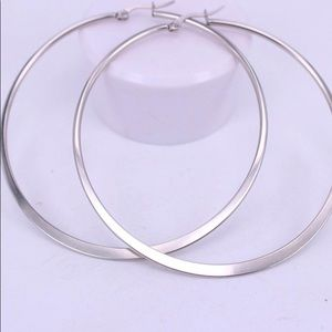 Jewelry - 70MM Stainless Steel Basketball Wives Earrings